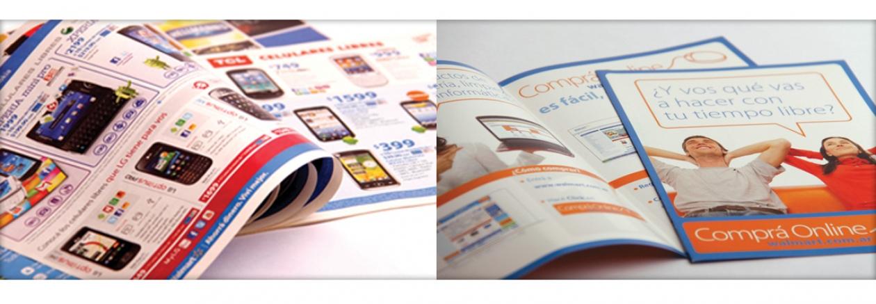 flyers de productos y servicios